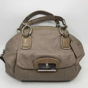 COACH M Tan Leather Shoulder Bag